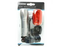 Fahrradlichter Set LED Metallgehäuse 2..