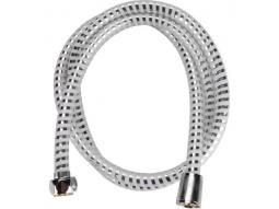 Duschschlauch weiss/silber 150cm PVC