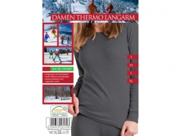 Damen Thermo Unterhemd Langarm  schwa..