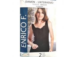 Damen Unterhemden, schwarz, 2er Grösse..