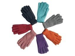 Damen Handschuhe warm gestrickt mit Fl..