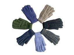 Herren Handschuhe warm gestrickt mit F..