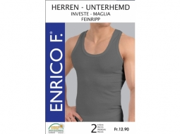 Herren Unterhemden grau meliert, 2er, ..