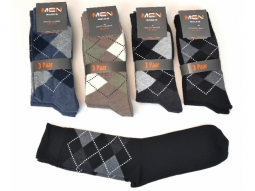 Herrensocken 3er Pack Karo 4 Farben ass