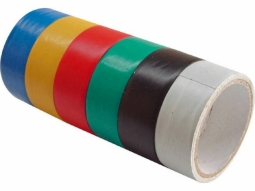 Klebe PVC-Isolierband 6 Farben je 3m 1..