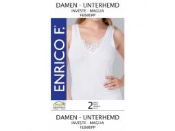 Damen Unterhemden, weiss, 2er, Grössen ass,100% BW  ENRICO