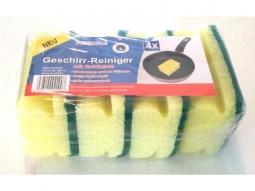 Geschirr-Reinigungs-Schwamm, 4er, Griffleiste, 16x9x7cm
