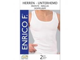 Herren Unterhemden, Doppelripp weiss, 2er 100% BW