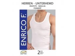 Herren Unterhemden, Feinripp weiss, 2er 100% BW