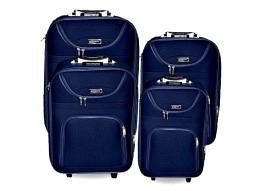 Kofferset weich 4tlg. Blau 20,24,28,32 inch
