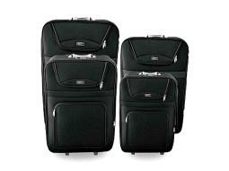 Kofferset weich 4tlg.  Schwarz 20,24,28,32 inch